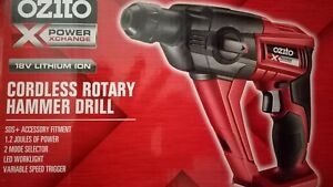 OZITO-18V-CORDLESS-ROTARY-HAMMER-DRILL-SKIN-POWER-TOOL-XCHANGE-DRIVER-LITHIUM