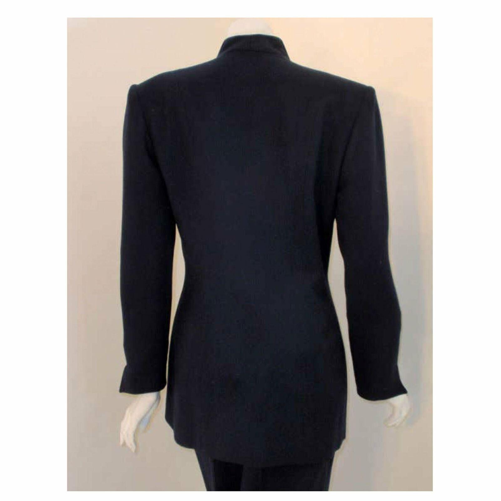 CHRISTIAN DIOR 1980s 2 pc Dark Blue Pant Suit - image 4