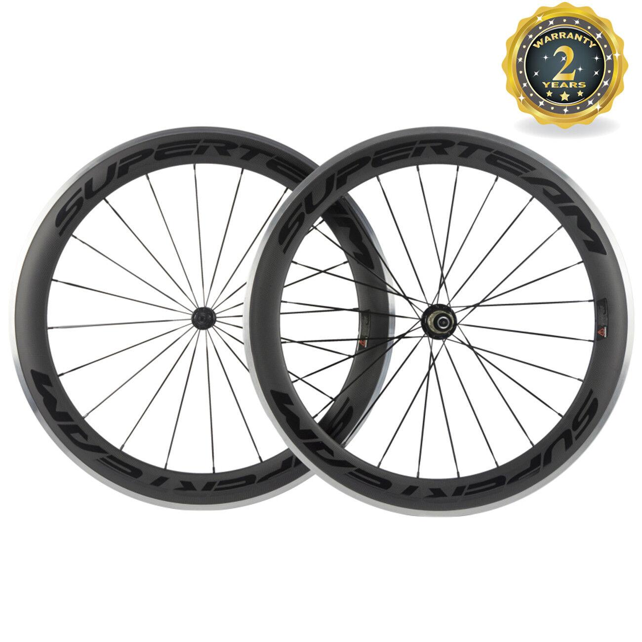 Superteam Alloy  Brake Surface Carbon Wheelset 60mm Deep Road Bike Carbon Wheel  order now lowest prices