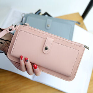 Leather-Wallet-Women-Clutch-Long-Card-Holder-Phone-Bag-Case-Purse-Lady-Handbag