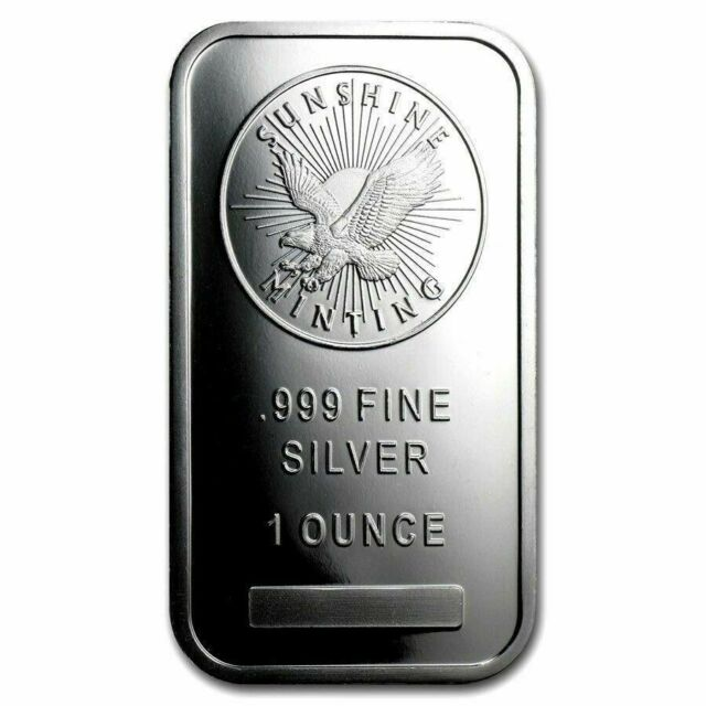 Great Gift /& Investment! SUNSHINE MINT .999 FN SILVER EAGLE BAR 1 oz One