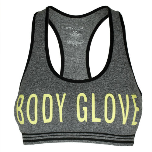 Body Glove Women/'s Seamless Padded Racerback Graphic Print Active Sports Bra