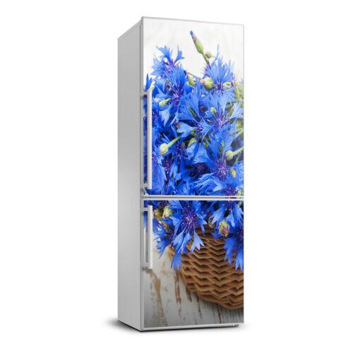 Selbstklebend Kühlschrank Tür Aufkleber für die Küche Blumen Kornblumen im Korb