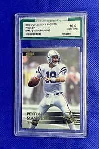 2000 Collector's Edge Peyton Manning Preview SP #PM AGS 10 Colts Broncos ~LOOK~