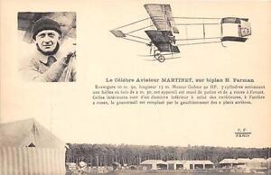 CPA-AVIATION-LE-CELEBRE-AVIATEUR-MARTINET-SUR-BIPLAN-FARMAN