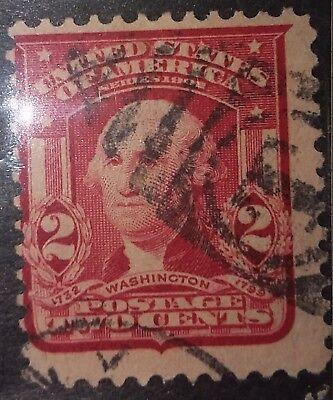 1902 U S Postage Stamp George Washington 2 Cents Used 319 I Type Ll Ebay
