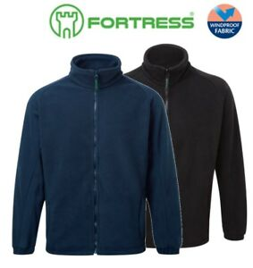 Fortress-Mens-Fleece-Thermal-Jacket-Jumper-With-Zip-Windproof-Sizes-XS-XXL