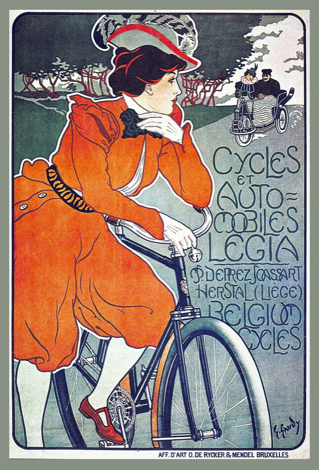 Decoration POSTER print.Belgium Vintage Bicycle.Room home interior art wall.6703