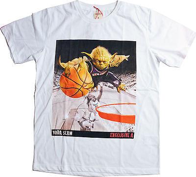 T-shirt Yoda Slamdunk Sport SW Geek Vintage - Sizes S-XL