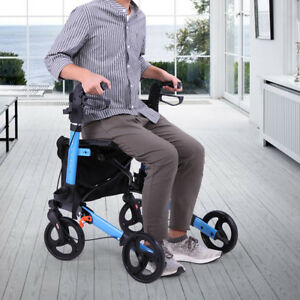 Heavy-Duty-Bariatric-Mobility-Rollator-W-8-034-Deluxe-Wheel-Rolling-Walkers-Brake