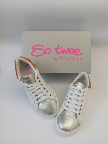 Donna Sneakers Bianche Basse In Silver Ragazza Vera Pelle Santorini Versione nCxnSpr5