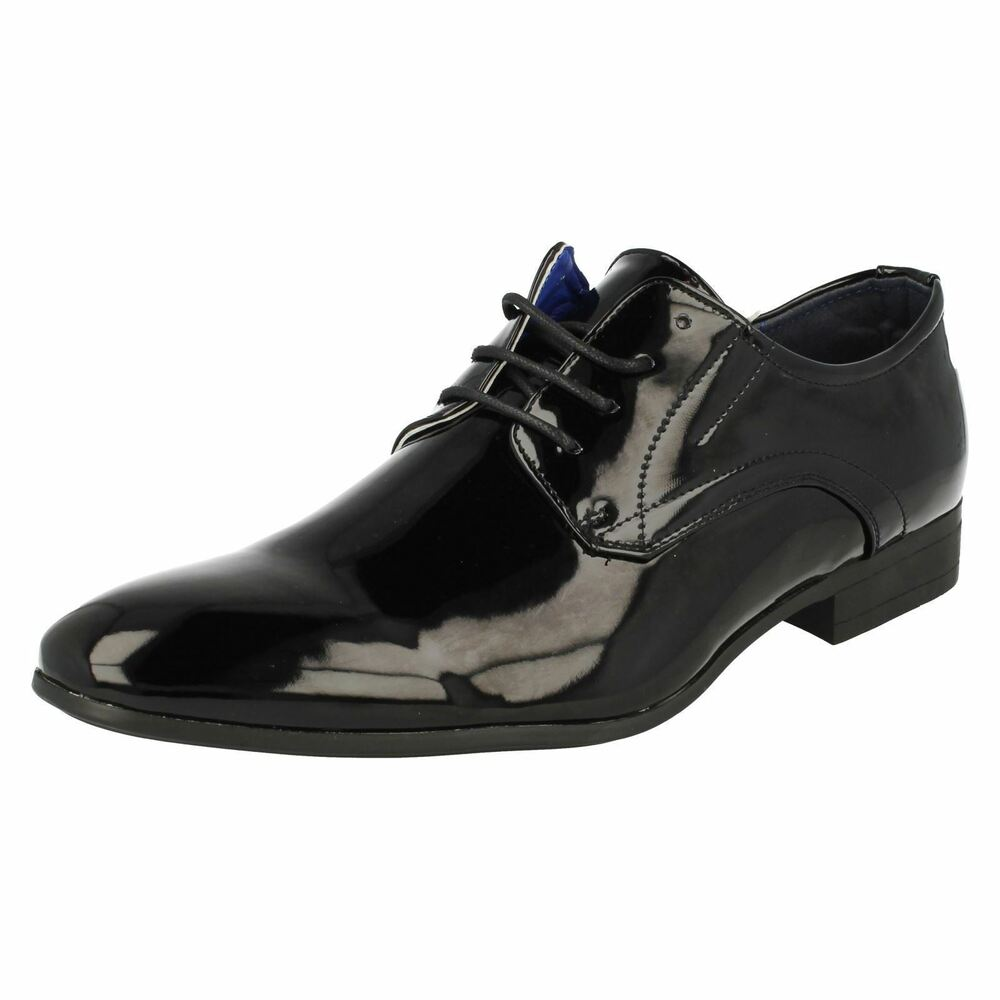 Malvern A2r136 Hommes Motif Noir Chaussures à Lacets (r17a)