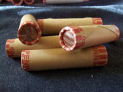 OBW Pennys 2008 **Original Bank Wrapped ** Uncirculated Lincoln Cent Roll D