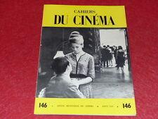[REVUE LES CAHIERS DU CINEMA] N° 146 # AOUT 1963 GODARD DZIGA VERTOV EO 1rst Pr.