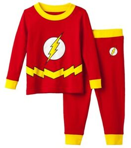 7102ee36ac DC Comics The Flash 2-piece Pajama Set Boys Size 4 6