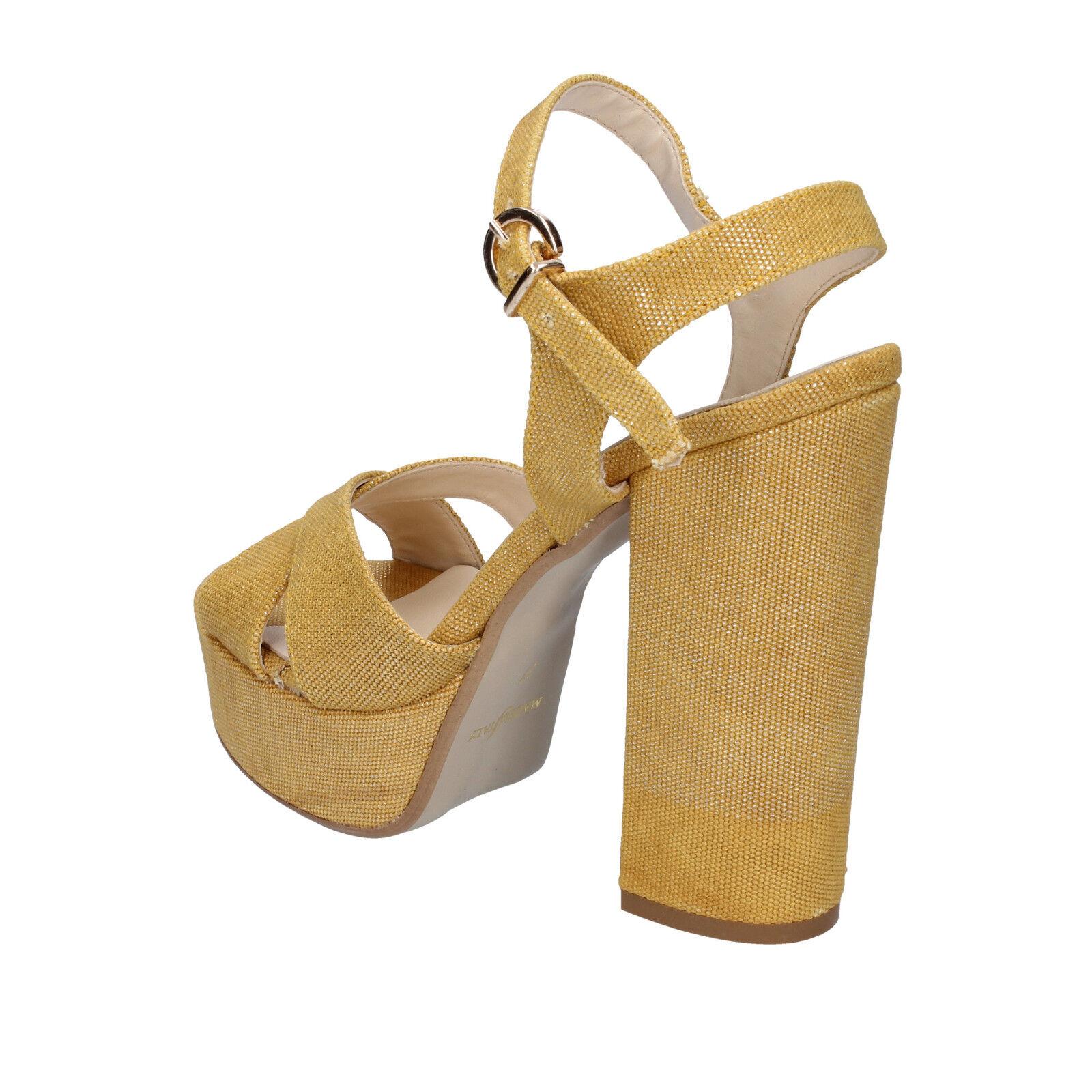 donna GENEVE GENEVE donna SHOES 36 sandali giallo tessuto BZ892-B a32b25