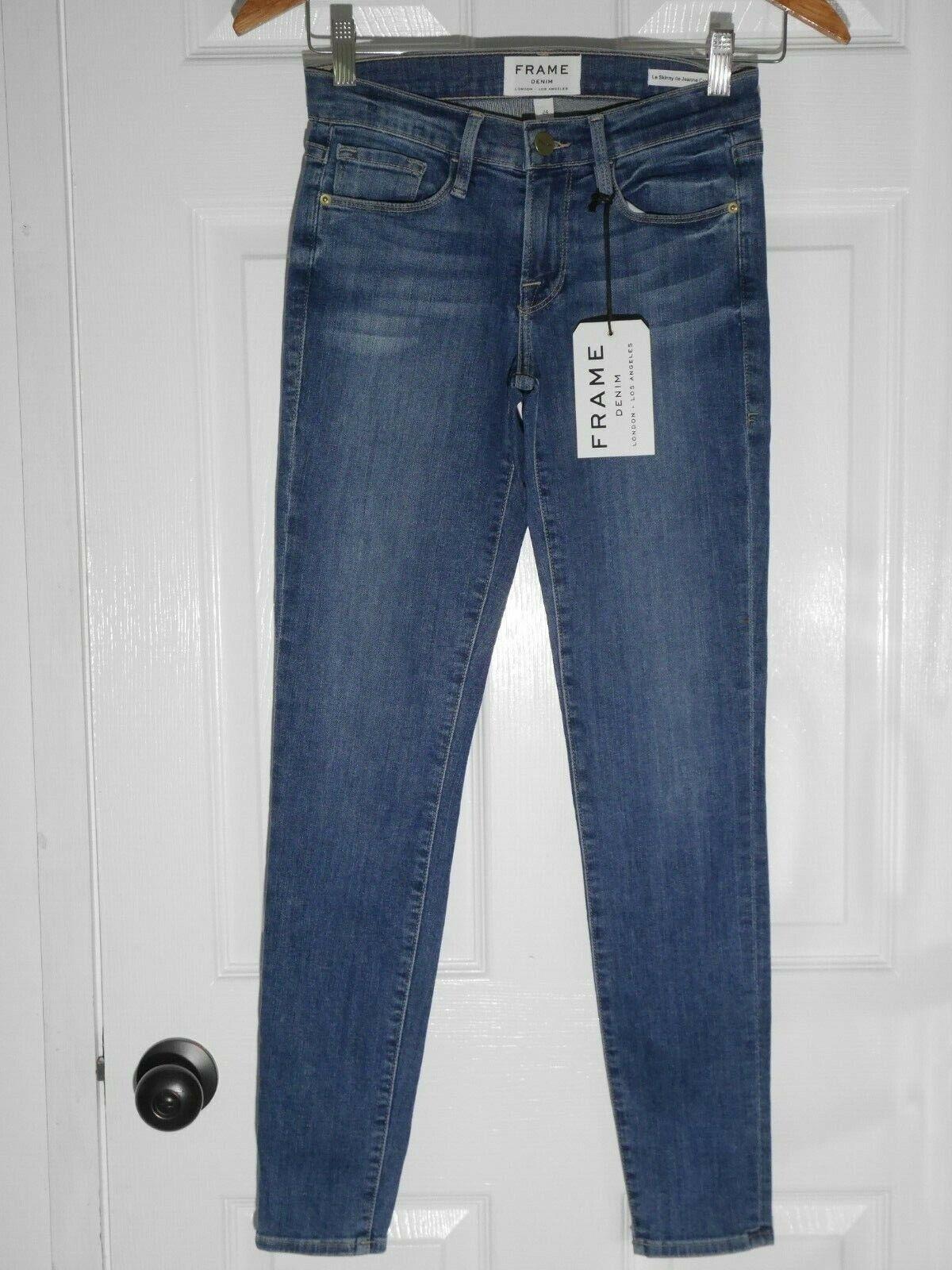 NEW FRAME Denim Le Skinny de Jeanne Crop in State Street - Size 24