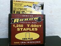 Arrow T-50ct Staples, 5 Boxes Of 1,250, Free Shipping