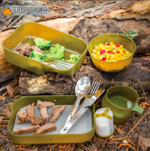 Camping Mess Kit - 9 piece - New - Trail Blazer