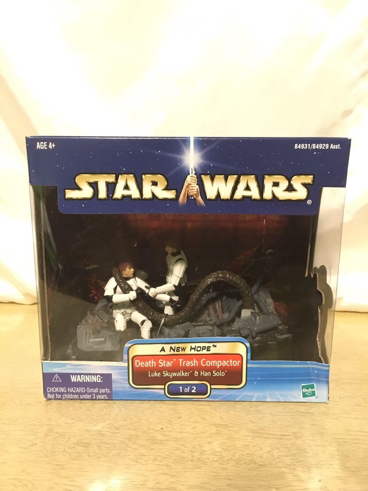 Star Wars A New Hope Death Star Trash Compactor 1/2 Han & Luke New Sealed