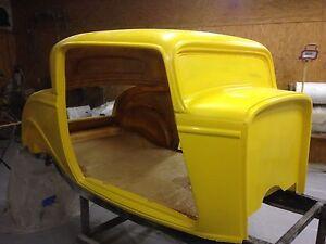 1932 32 ford three window coupe fiberglass body ebay for 1932 ford 3 window coupe fiberglass body