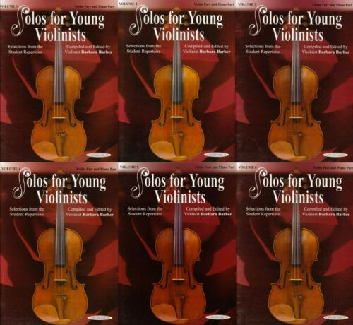 Solos for Young Violinist Collection 1-6 Barbara Barber