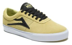 Lakai-Shoes-Sheffield-Dusty-Yellow-Black-Suede-USA-SIZE-Skateboard-Sneakers