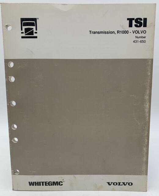 Volvo R1000 Transmission Service Manual Tsi Technical