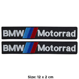 Parches-Bmw-motocicleta-conjunto-kit-2-patch-bordado-fusible-a-planchar-para
