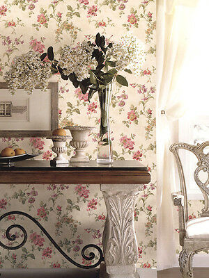 "12""/31cm Wallpaper SAMPLE Charming Multi Floral on Cream"