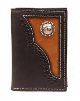 Nocona Western Mens Wallet Trifold Leather Cowboy Prayer Black N54516129