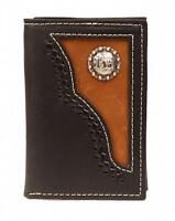 Nocona Western Mens Wallet Trifold Leather Cowboy Prayer Black N54516129