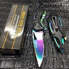 Couteau de Bicker O/A rainbow Arc Ciel Brise Vitres Tournevis Tac Force TF705RB