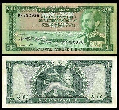 Ethiopia 1 Dollar 1966 Au Pick 25