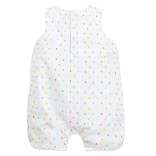 DISNEY STORE WINNIE THE POOH BUBBLE ROMPER FOR BABY WITH POM POM /& RUFFLE TRIM