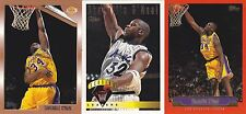 Shaquille O'Neal SHAQ lot of 3 different topps cards Quantity available Plaques?