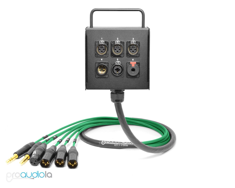 6 canal personalizado Mogami Estudio Parojo Parojo Parojo Etapa Planta Caja Neutrik oro   verde 20 ft. 602136