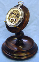 Rosewood Single Pocket Watch Stand Handmade in England A40r (Watch not included)