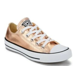 Details about Converse All Star OX Mens 9.5 Metallic Sunset Glow Rose Gold 154037F Sneakers