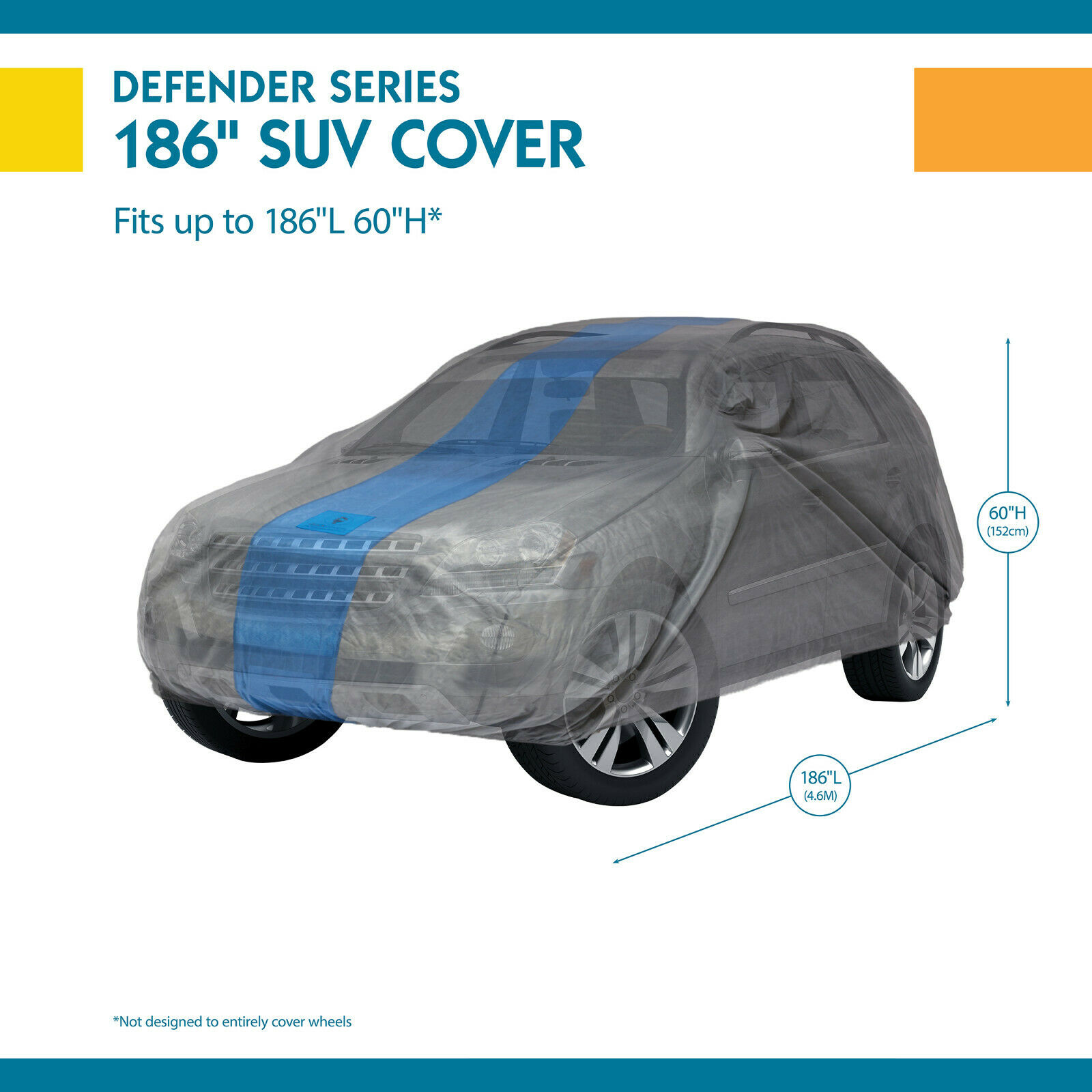 Duck Covers Weather Defender SUV Cover for SUVs//Pickup Trucks with Shell or Bed Cap up to 17 5
