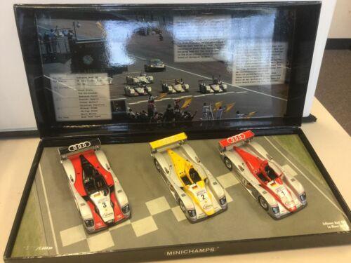 Minichamps 1:43 Infineon Audi R8 Le Mans 2002 Set Article 402 020123 4012138045934