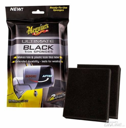 Meguiars Meguiar`s Ultimate Black Trim Sponges  for Plastic Vinyl /& Rubber NEW