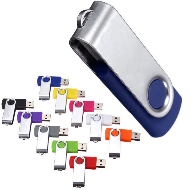 16GB 8GB 4GB USB 2.0 Swivel Flash Memory Stick Pen Drive Storage Thumb U Disk FT