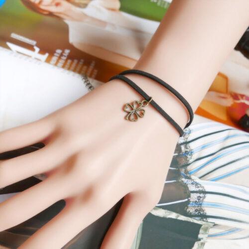 Fashion Velours Noir Rétro Sweet Ruban de velours dentelle multicouche femelle Bracelet