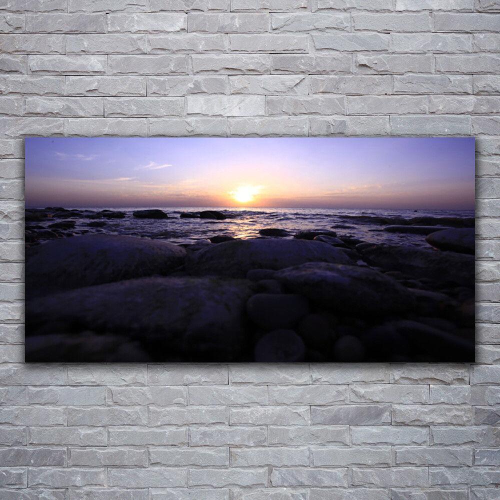 Impression sur verre Wall Art 120x60 Photo Image Pierres Mer Paysage