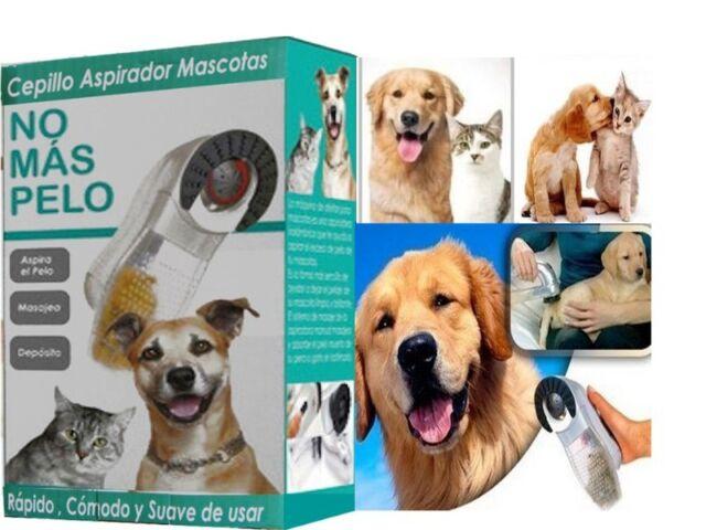 ASPIRADOR MASCOTAS CEPILLO RECOGE PELOS PERRO GATO MASAJEA ELIMINA PELO ANIMALES