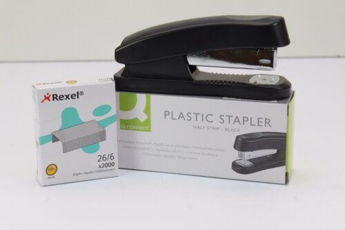 HALF STRIP OR FULL STRIP PLASTIC BLACK STAPLER.