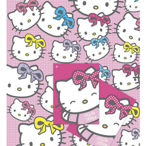 Image Is Loading Hello Kitty Girl 039 S Birthday Wrapping Paper