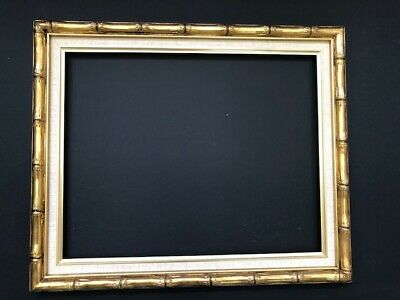 Bamboo Style Gold Picture Mirror