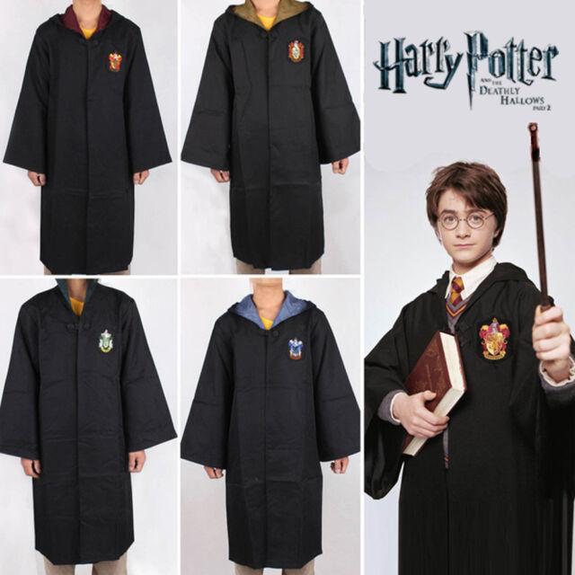 Cosplay Kid Adult Wizarding Hogwarts Gryffindor Hufflepuff Ravenclaw Slytherin